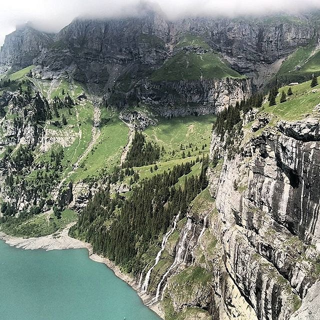 Hiking the Fründenschnuer and enjoying the views.