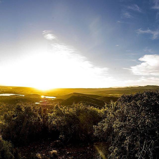 Watching the sun set over the Little Karoo